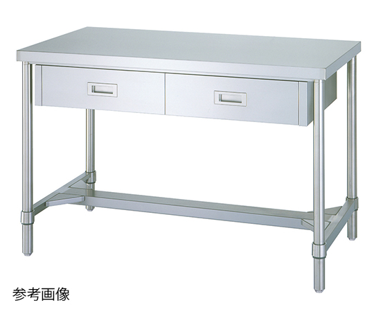 Shinko Co., Ltd WDH-18060 Stainless Steel Workbench (H Frame Type) 600 x 1800 x 800mm