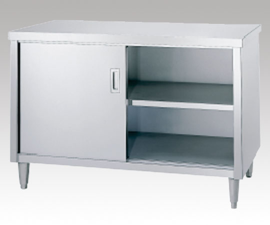 AS ONE 3-4022-01 E-6045 Cabinet Workbench (Stainless Steel (SUS430)), Stainless Steel Door Specification) 600 x 450 x 800mm