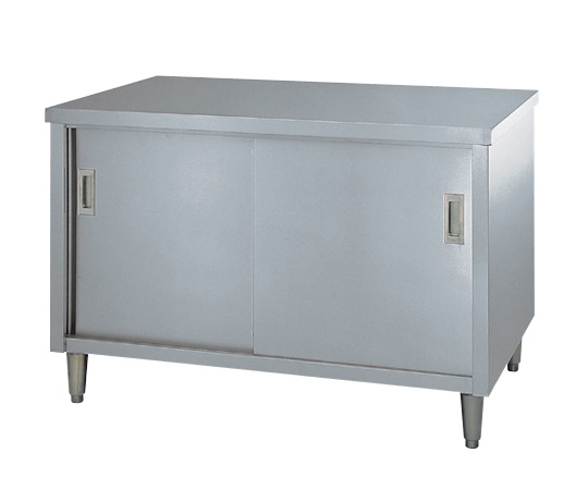 AS ONE 3-4022-05 E-18075 Cabinet Workbench (Stainless Steel (SUS430)), Stainless Steel Door Specification) 1800 x 750 x 800mm
