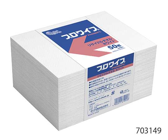 Elleair (DAIO PAPER CORPORATION) 703149 PROWIPE, Recycling Towel 405 x 315mm White Band
