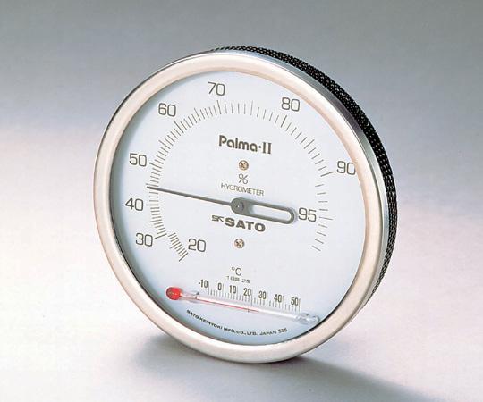 Sato Keiryoki Parma II Type Hygrometer with Thermometer 20 - 99%RH, 0 - 50oC