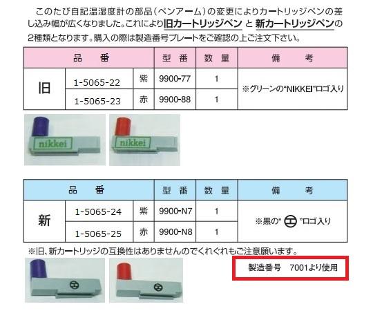 AS ONE 1-5065-22 9900-77 Thermo-Hygro Recording Cartridge Pen 990077 Purple 1
