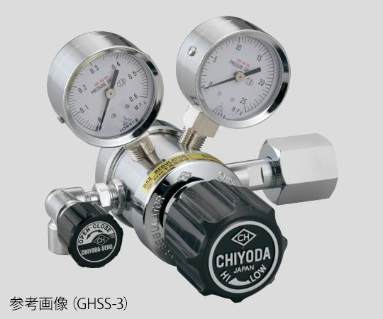 AS ONE 2-759-07 GHSS-3 Precision Pressure Regulator SRS-HS-GHSS-3 (15MPa, 0.1 - 0.6MPa)