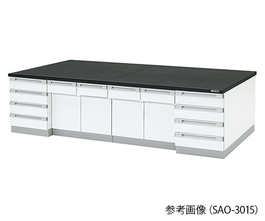 AS ONE 3-7766-02 SAO-2415 Central Laboratory Bench Wooden Type (2400 x 1500 x 800mm)
