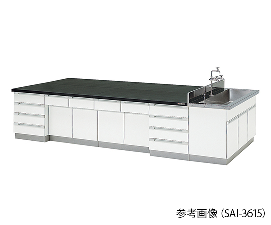 AS ONE 3-7770-01 SAI-2415 Central Laboratory Bench Wooden Type (2400 x 1500 x 800mm)