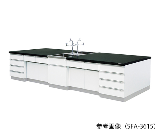 AS ONE 3-7771-03 SFA-3612 Central Laboratory Bench (Wooden Type) 3600 x 1200 x 800mm