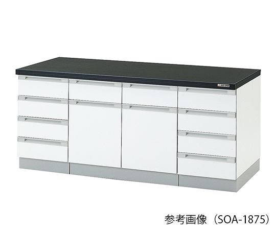 AS ONE 3-4183-13 SOA-3075 Side Laboratory Bench (Wooden Type) 3000 x 750 x 800mm