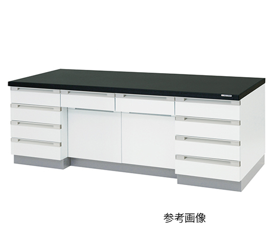 AS ONE 3-4185-12 SQA-2475 Side Laboratory Bench Wooden Type (2400 x 750 x 800mm)