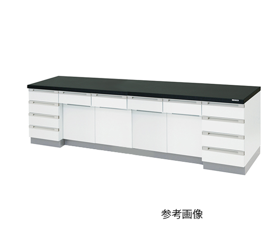 AS ONE 3-4185-13 SQA-3075 Side Laboratory Bench Wooden Type (3000 x 750 x 800mm)