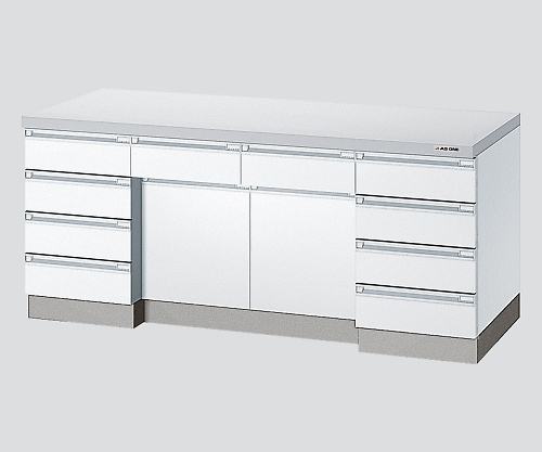AS ONE 3-1280-12 AP1O-2407-W Side Laboratory Bench White, Wooden Type 2400 x 750 x 800