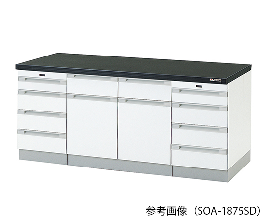 AS ONE 3-2005-21 SOA-1875SD Side Laboratory Bench (Wooden Type With Sliding Shelf) 1800 x 750 x 800mm