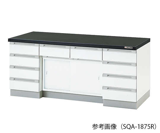 AS ONE 3-5830-43 SQA-3075R Side Laboratory Bench (Wooden Type, Sliding Door Type) 3000 x 750 x 800mm