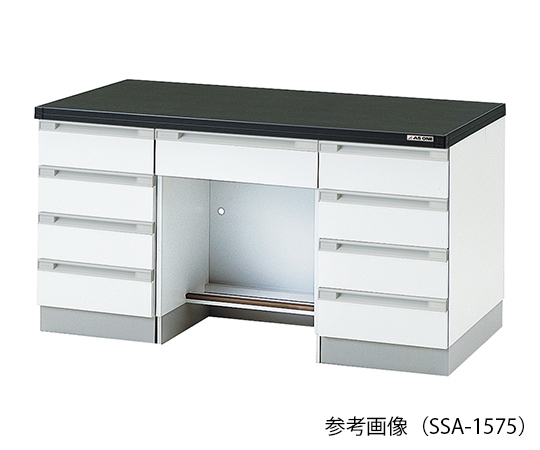 AS ONE 3-5831-22 SSA-1875 Side Laboratory Bench (Wooden Type) 1800 x 750 x 800mm