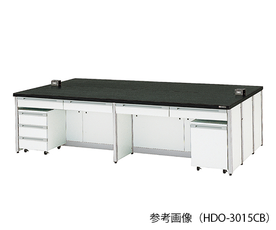 AS ONE 3-7855-02 HDO-2415CB Central Laboratory Bench Frame Type (2400 x 1500 x 800mm)