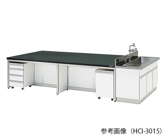 AS ONE 3-7922-04 HCI-4212 Central Laboratory Bench (Frame Type) 4200 x 1200 x 800mm