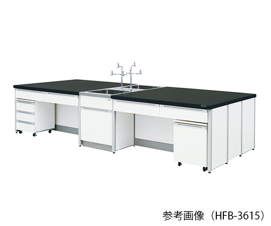 AS ONE 3-7859-01 HFB-2415 Central Laboratory Bench (Frame Type) 2400 x 1500 x 800mm