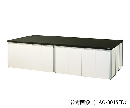 AS ONE 3-7739-02 HAO-2415FD Central Laboratory Bench (Frame Type With Folding Door) 2400 x 1500 x 800mm