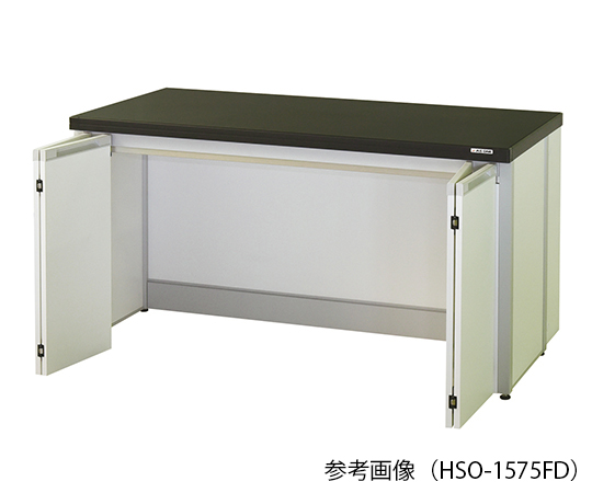 AS ONE 3-7730-04 HSO-1575FD Side Laboratory Bench (Frame Type With Folding Door) 1500 x 750 x 800mm