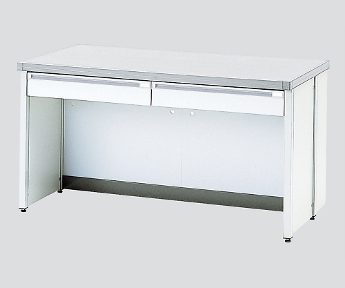 AS ONE 3-4194-03 HTOA-1507W Side Laboratory Bench White Top Board, Frame Type 1500 x 750 x 800