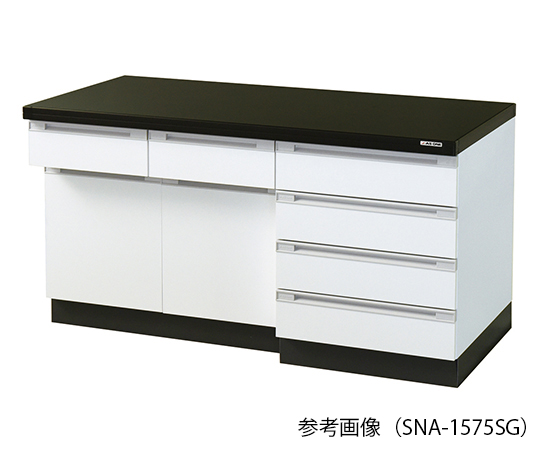 AS ONE 3-8041-03 SNA-1575SG Side Laboratory Bench (Wooden Island Type) 1500 x 750 x 800mm
