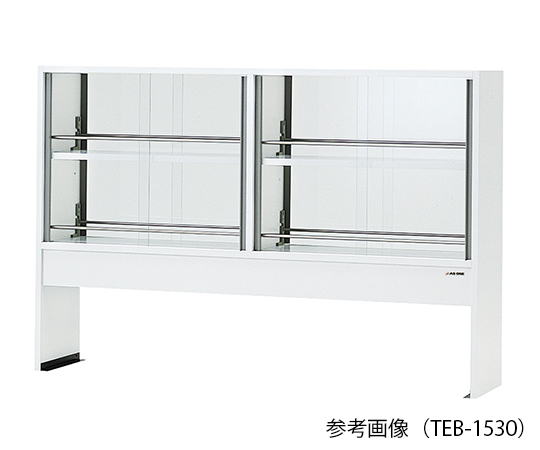 AS ONE 3-5781-13 TEB-1530 Reagent Shelf (Double-Sided Type With Glass Door) 1500 x 300 x 1000mm