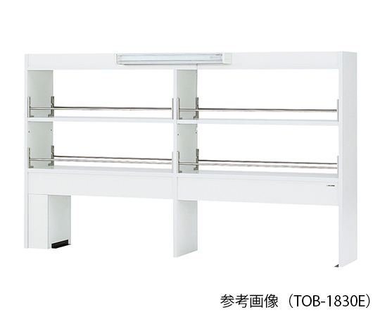 AS ONE 3-4584-14 TOB-1830E Reagent Shelf (Double-Sided Type With LED Light) 1800 x 300 x 1070mm