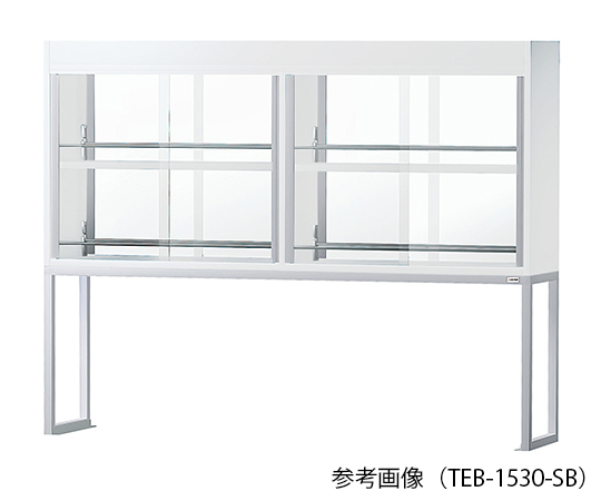 AS ONE 3-2091-13 TEB-1530SB Reagent Shelf (Double-Sided Steel Type With Glass Door) 1500 x 300 x 1170mm