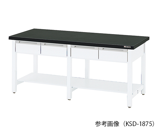 AS ONE 3-5806-14 KSD-2475 Workbench (Wood With Single-Sided Drawers) 2400 x 750 x 800mm