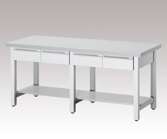 AS ONE 3-1285-14 KSD-2400W Workbench (White) Drawer (Single-Sided) 4 2400 x 750 x 800mm