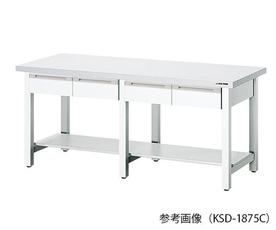AS ONE 3-2008-12 KSD-1575C Ceramic Top Board Workbench (Single Side Drawer) 750 x 1500 x 800mm