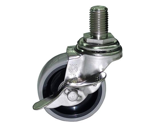 Shinko CSU-75 Optional Caster φ75 Urethane Wheel With Stopper (Stainless Steel Metal Bracket)