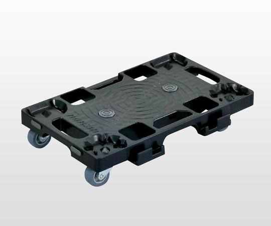 NANSIN PD-403-2SE Resin Sheet Connection Platform Cart Black (Black, PP (Polypropylene), Withstand load 120kg, 416 x 275 x 80mm)