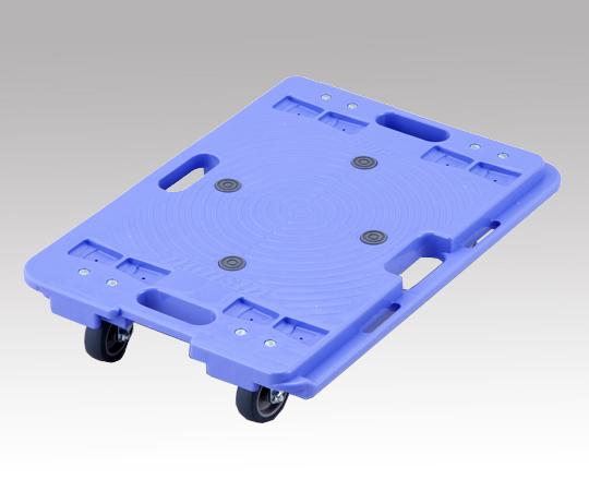 NANSIN PD-406-3E Resin Connection Flat Cart Blue (Blue, PP (Polypropylene), Withstand load 150kg, 600 x 400 x 120mm)