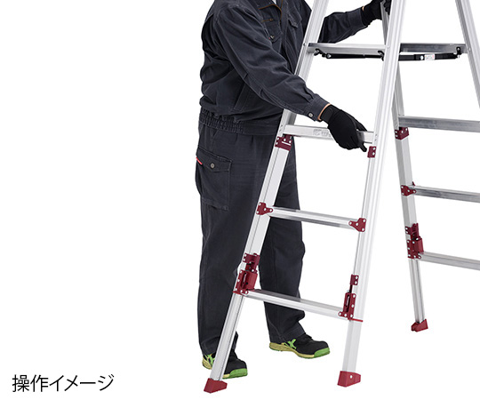 PiCa Corp SXJ-180 Stepladder With Adjustable Legs 596 to 653 x 1090 to 1280 x 1530 to 1840mm