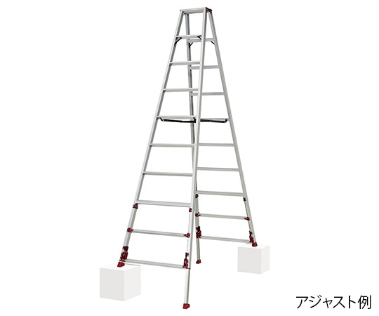 PiCa Corp SXJ-300 Stepladder With Adjustable Legs 810 to 866 x 1805 to 1994 x 2690 to 3000mm