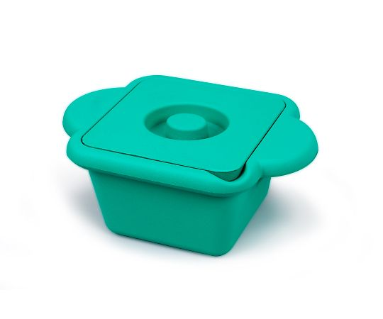 AS ONE 3-8579-01 Ice Bucket (With Lid And Handle) Square (Emerald) 1L