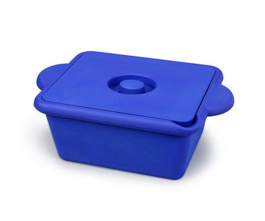 AS ONE 3-8579-03 Ice Bucket (With Lid And Handle) Square (Blue) 4L