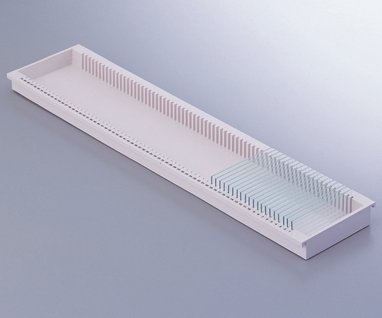 AS ONE 2-159-02 Slide Glass Tray (Amount Of Slide Storage: 70 Pieces) 95 x 419 x 20mm