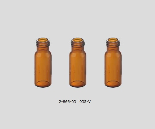 AS ONE 2-866-03 935-V Autosampler Vial (1.5mL, USP type1, Brown, 100 pcs)