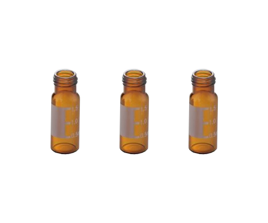 AS ONE 2-866-04 945-V Autosampler Vial (1.5mL, USP type1, Brown with label, 100 pcs)