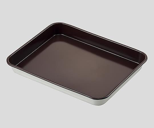 AS ONE 2-339-08 No.2 Fluorine Coated Aluminum Tray, Deep, Size 355 x 506 x 61mm