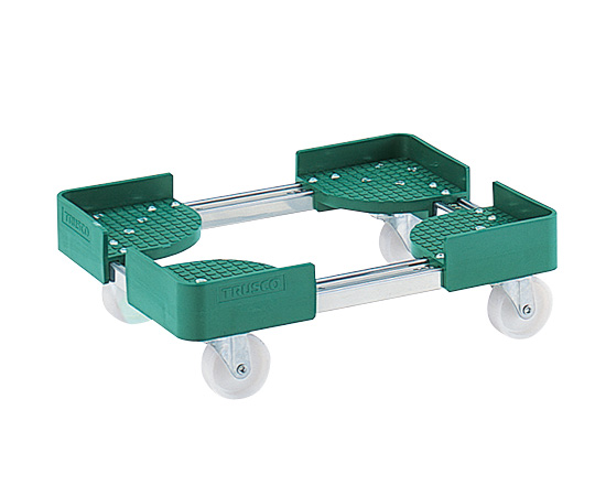 TRUSCO NAKAYAMA FCD-3050SUS Expansion Type Container Bogie Φ75mm nylon Equal load 300kg