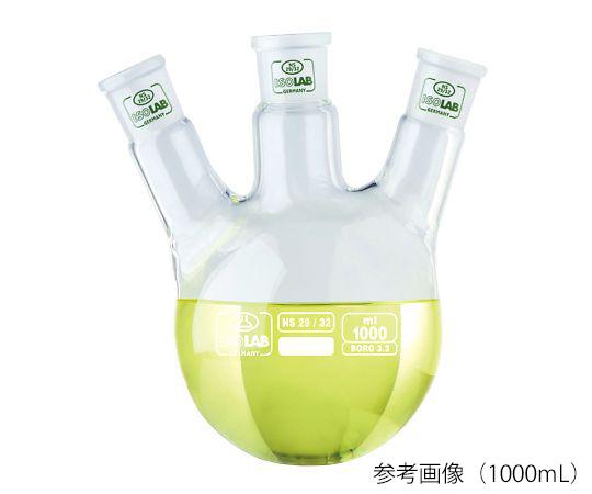 Bình thủy tinh tròn 3 cổ Borosilicate glass 3.3 500mL ISOLAB 030.39.500